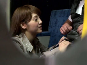 Playful Japanese girlfriend does job..