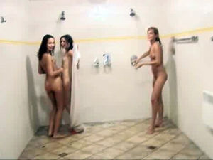 Naked teen girls lather each other..