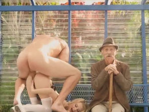Public cunt filled with big cock at..