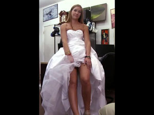 Young bride in a nuptial dress. This..