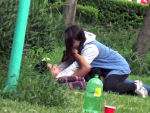 Teenager Latin duo caught in the Park