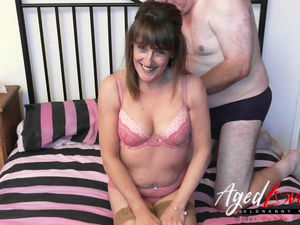 AgedLove gangbang with wild mature..