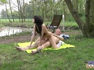 Outdoor Aged Boy Plowed Teenager Chick..