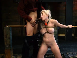 Pretty assistant violently penetrated..